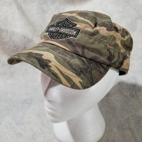 8871a044fc78 Harley-Davidson Other - Harley-Davidson Motor Cycles Camouflage Bucket Hat